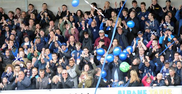 Blues fans were at Burton in big numbers on Sunday