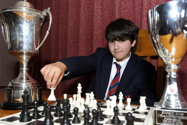 Smart move - boy wonder Niall Ali won the tournament prize for the best junior
