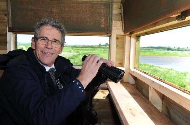 Echo: John Hall, chief executive of Essex Wildlife Trust, opens wildlife haven