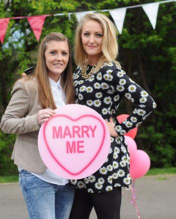Stacey Turner and Helen Scott. PICTURE BY: HARRY SCOTT