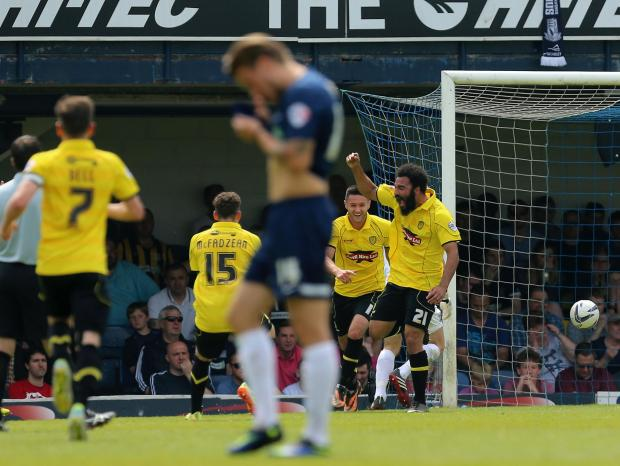 Southend United 2, Burton Albion 2 (Burton Albion win 3-2 on aggregate)