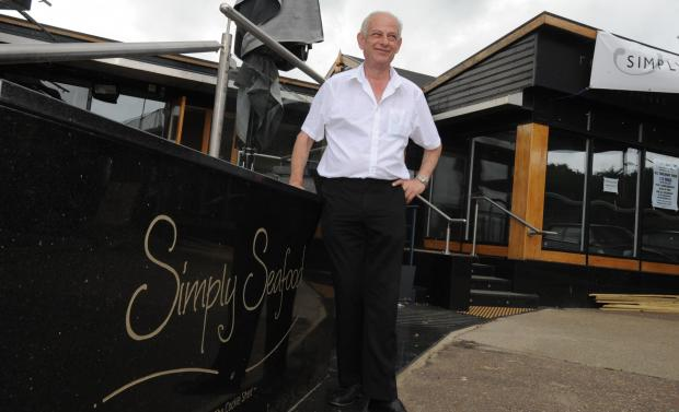 Ready for the big day – Simply Seafood's new owner Marios Theo outside the restaurant