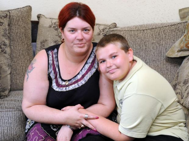 Echo: Young life saver – Brandon Mildren with his mum, Tania