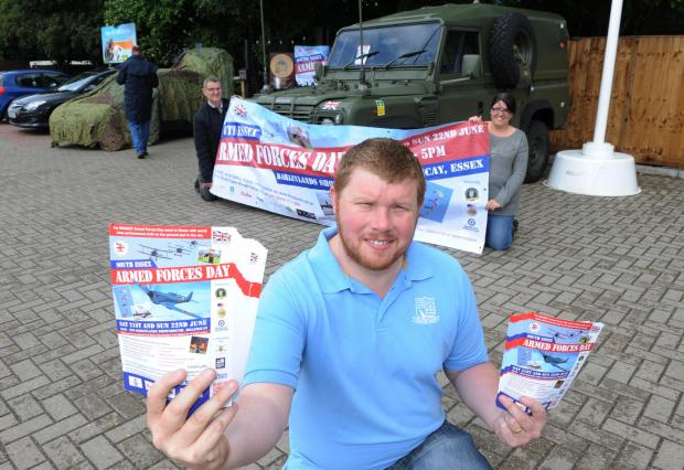 Join us – event manager Dan Rodgers handing out flyers for the event in June