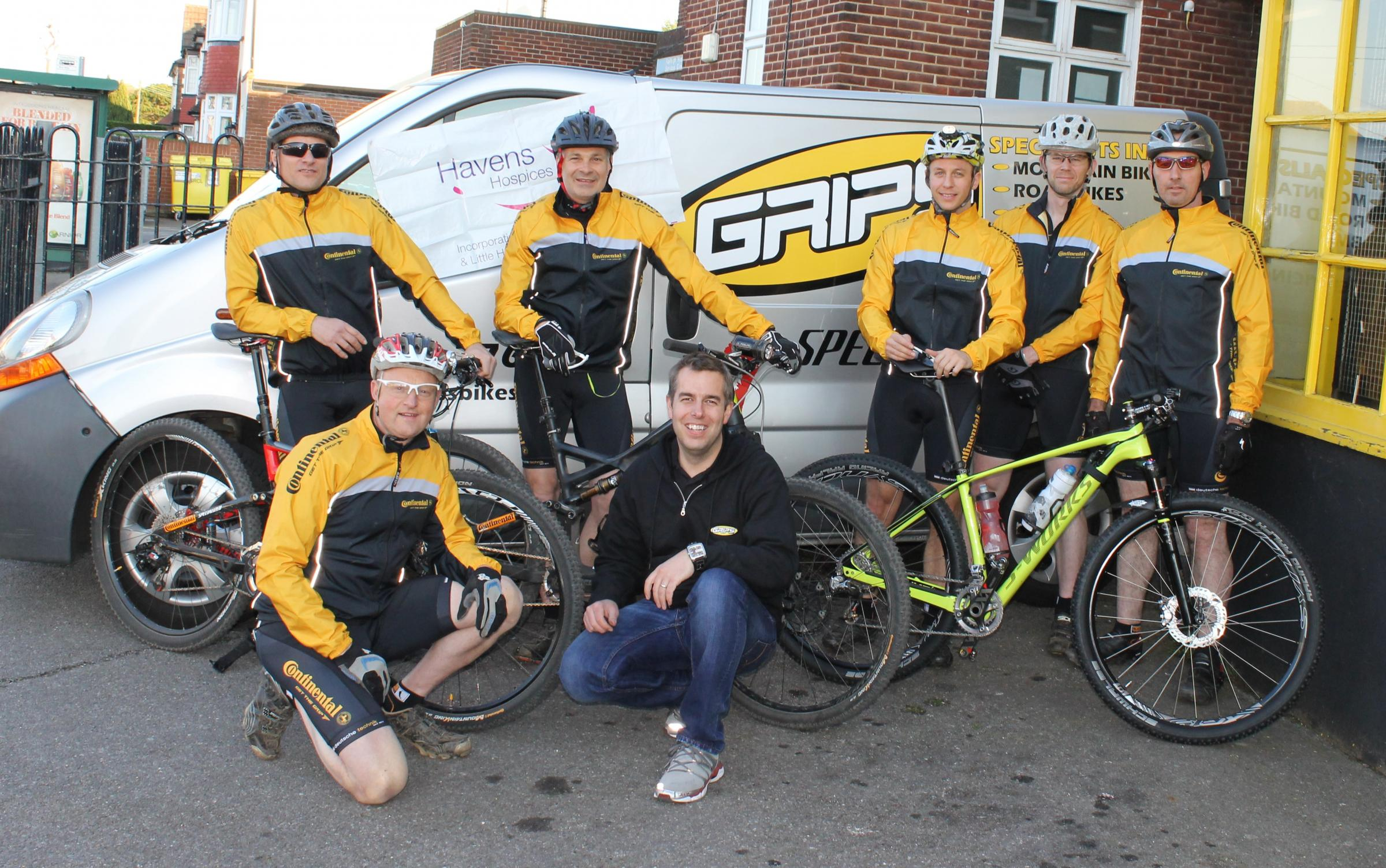 Cyclists with a cause – Grips Riders are raising money for local hospices