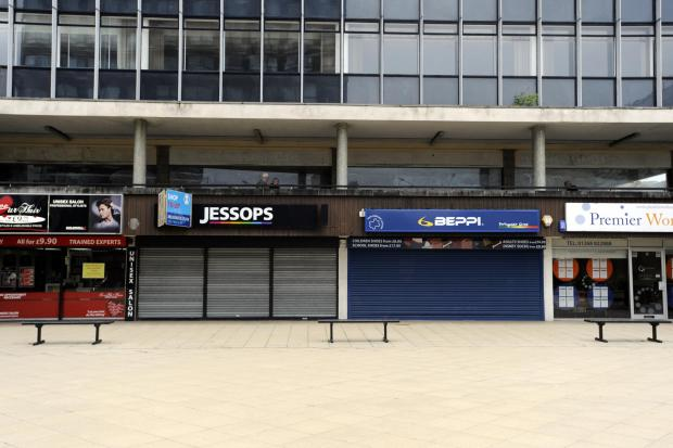 Empty shops in Basildon