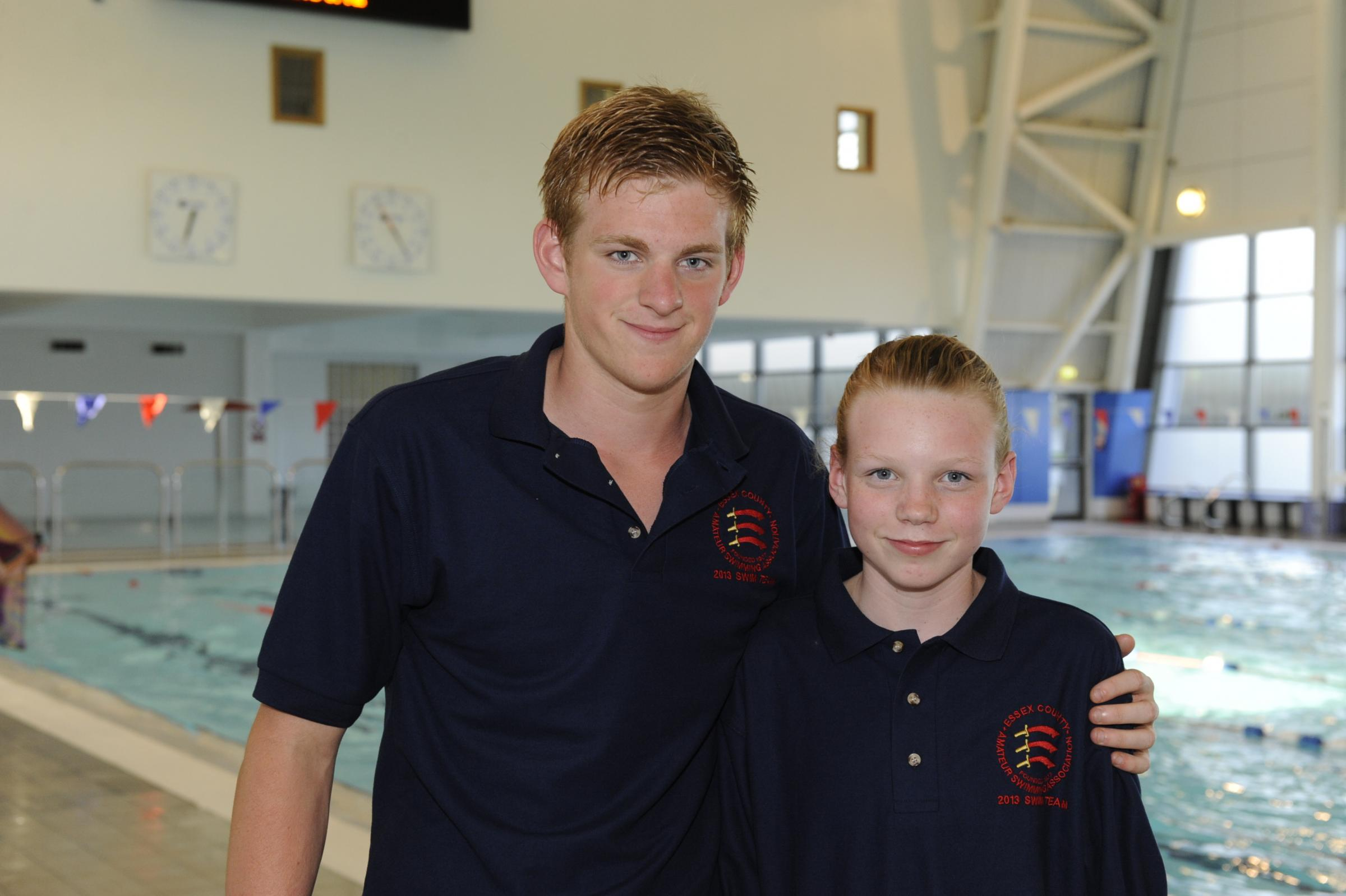 Barton Townley (left) - in fine form for Borough of Southend Swimming Club