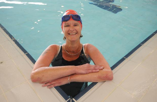 Echo: Carol Bianco at Southend Swimming and Diving Centre