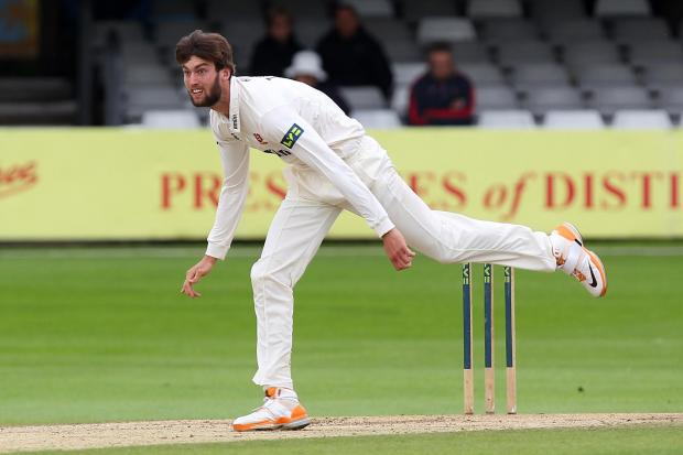 Reece Topley took ten wickets in total
