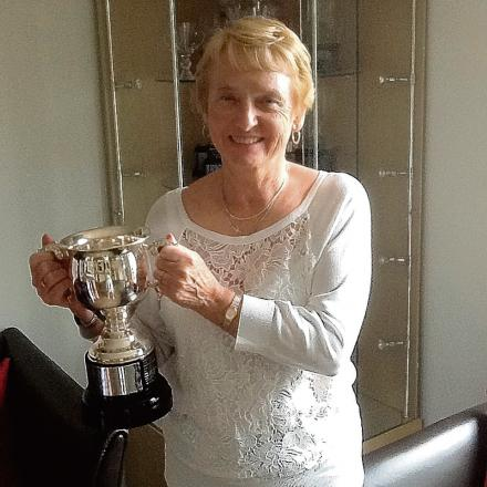 Jacqui Bratt with the winner's cup