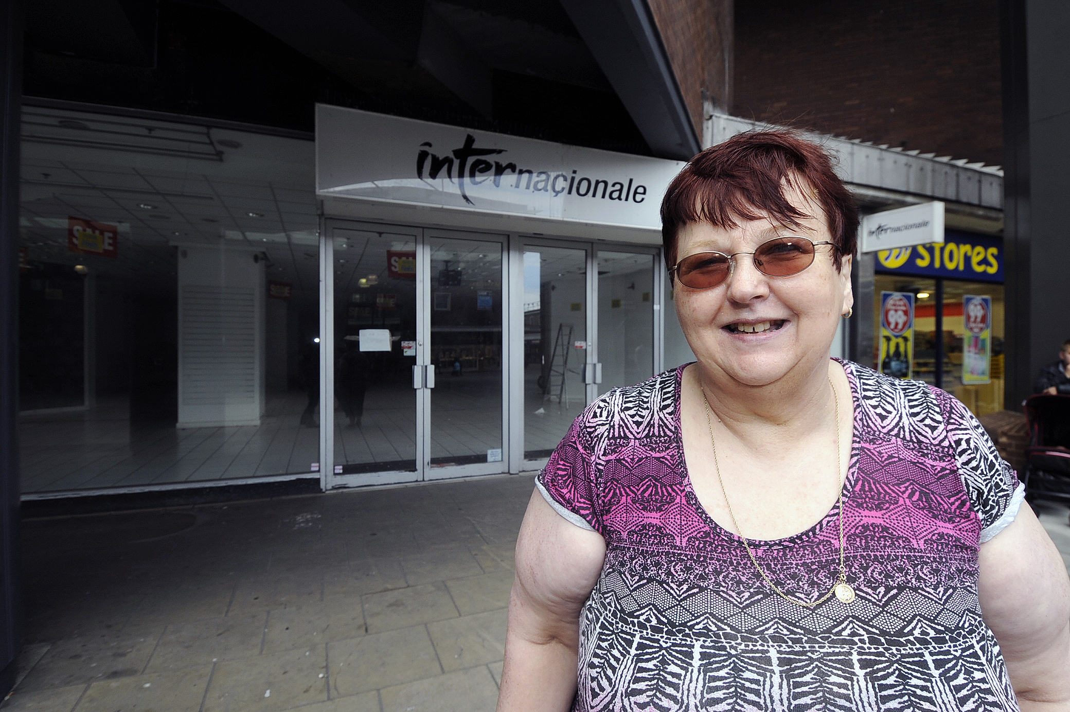 Pat Rackley – outside the former Internacionale store which will become Bonmarche