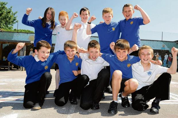 Confident youngsters - kids at Rayleigh Primary are hopeful of a win