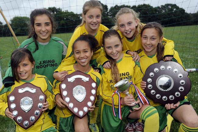 Unbeatable – Fairways Primary School's girls football team