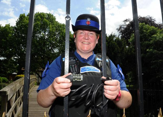 Chain of command – PCSO Julie McFadden locked a suspect's getaway bike to railings