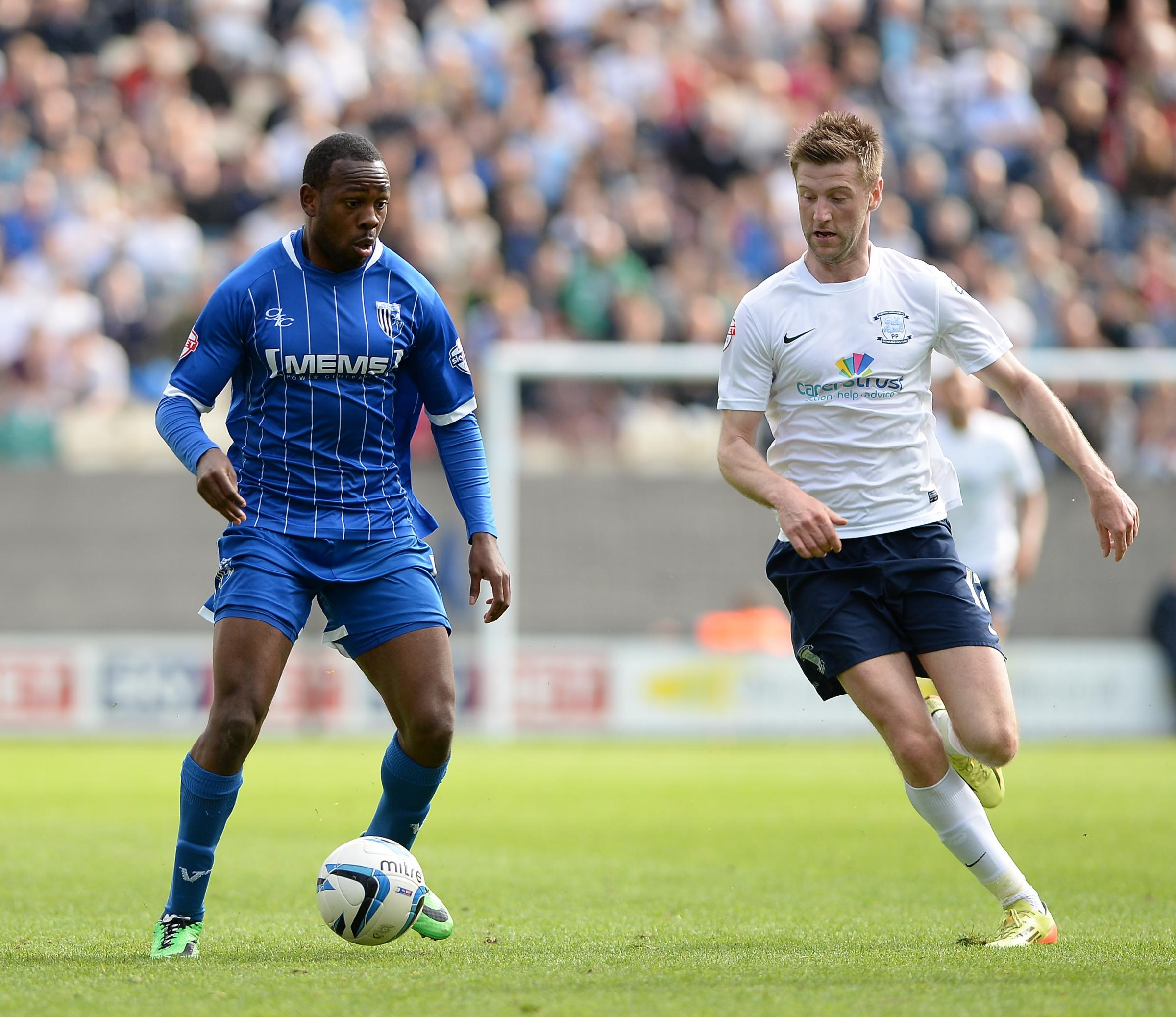 New Blue - Myles Weston playing for Gillingham last season