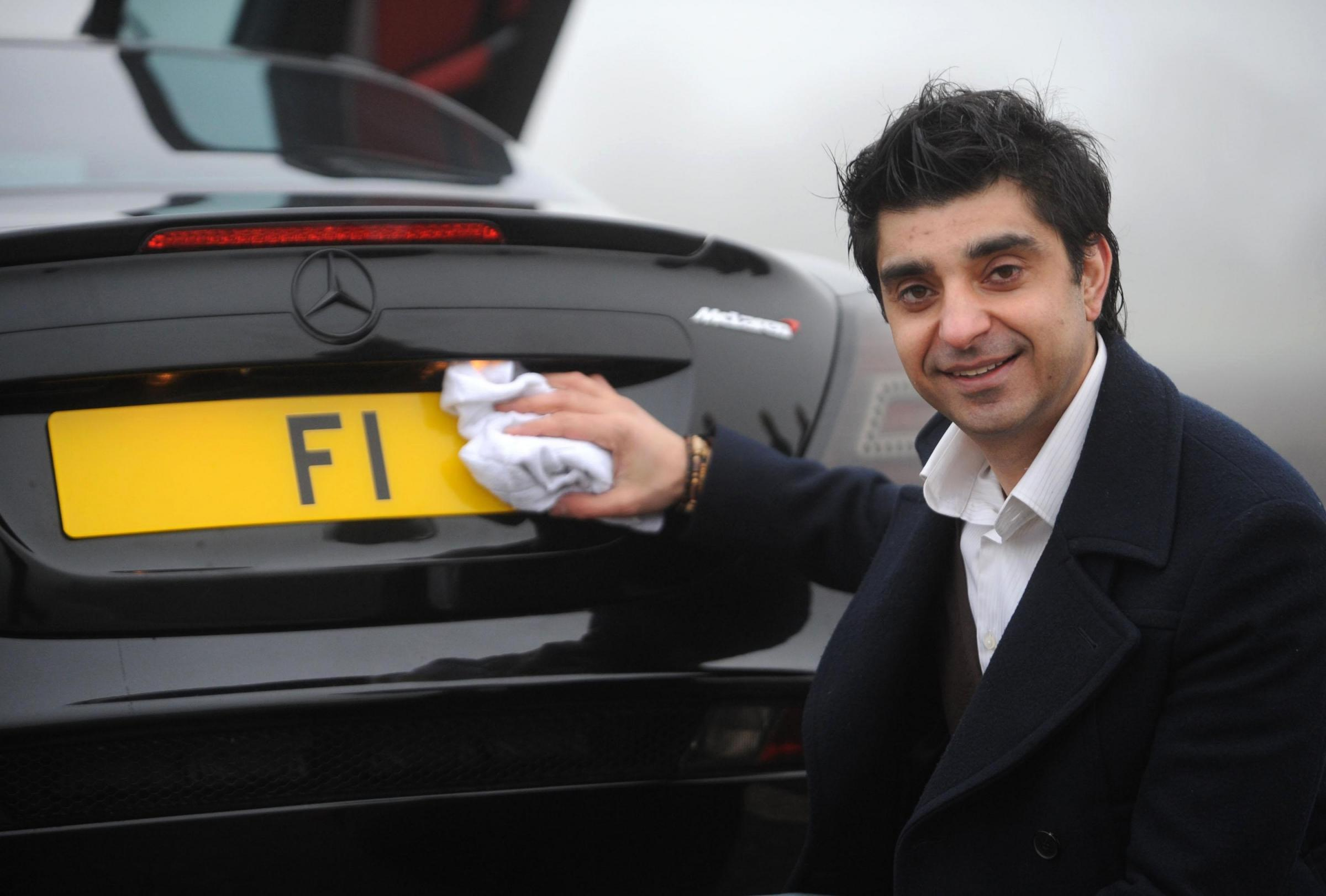 Prized plate – Afzal Kahn with the registration number that could fetch £10million