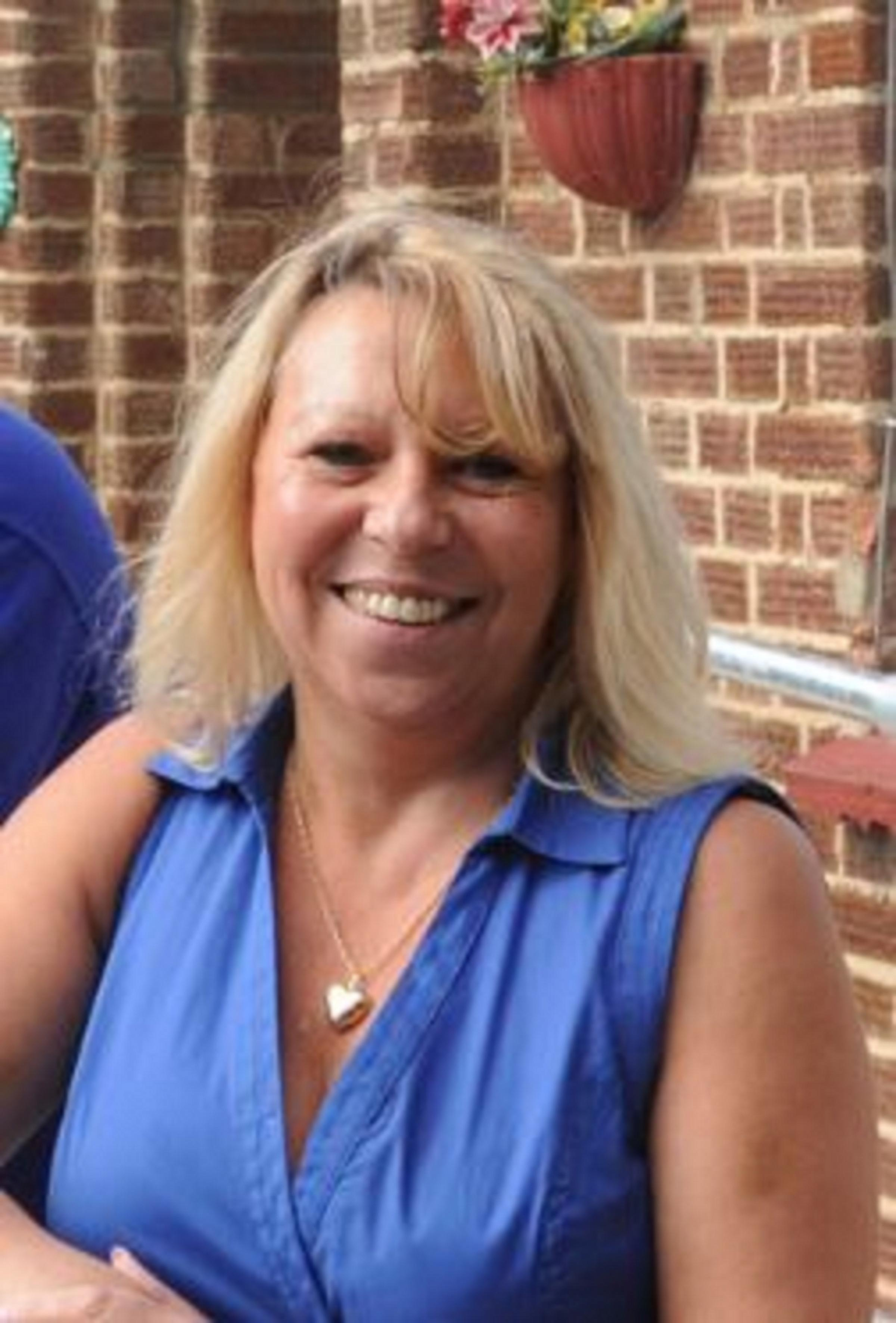 Banned from teaching – Carole Ritchie during her time as headteacher of the school