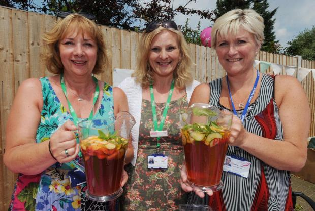 Cheers! Havens staff Jill Simmonds, Sue Dimm and Yvonee Clark