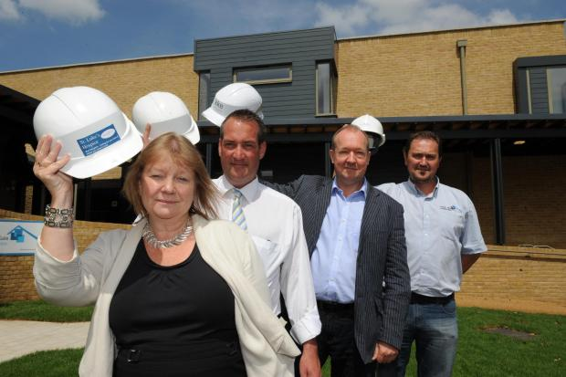 Ready for patients – Eileen Marshall and Chris Cox from St Luke's, architect Phil Kavanagh and Dominic Woodford from Forest Gate Conctruction