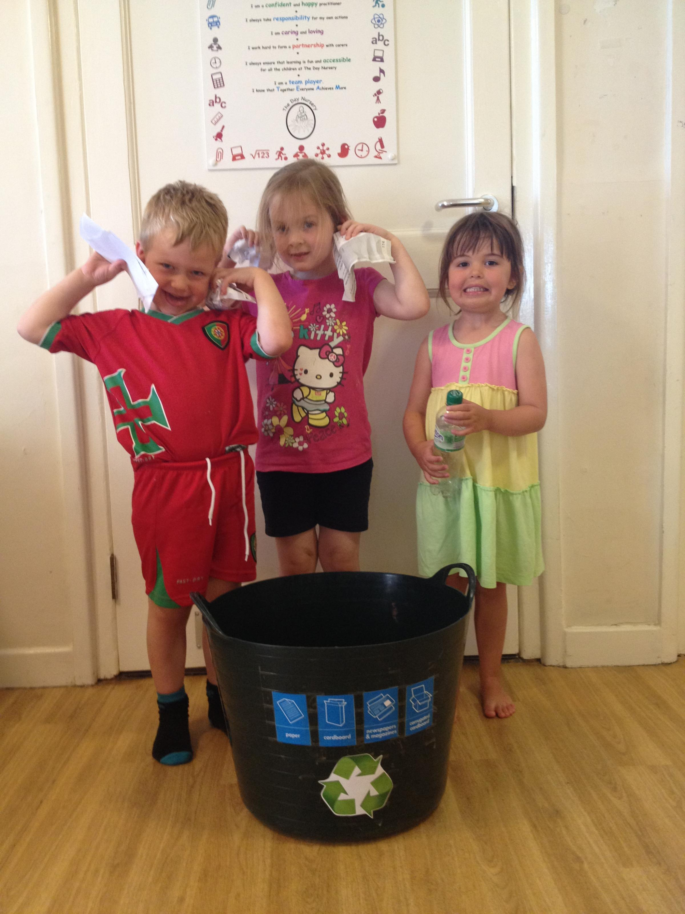 Eco kids – Nathan Everett, Emily Harrison and Darcie Donovan get involved in recycling