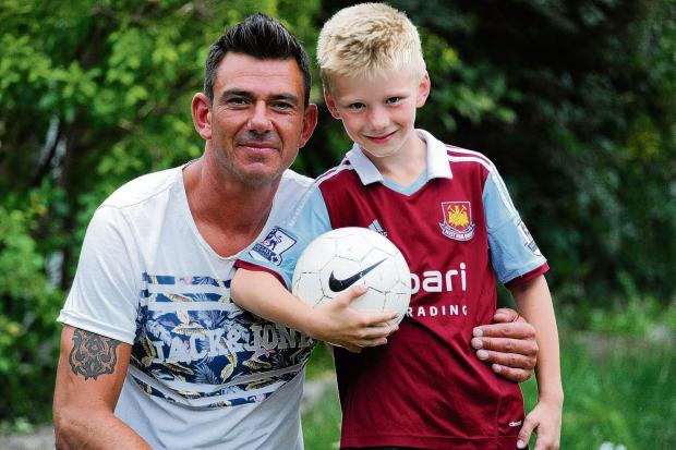 Steve Jones with son Liam