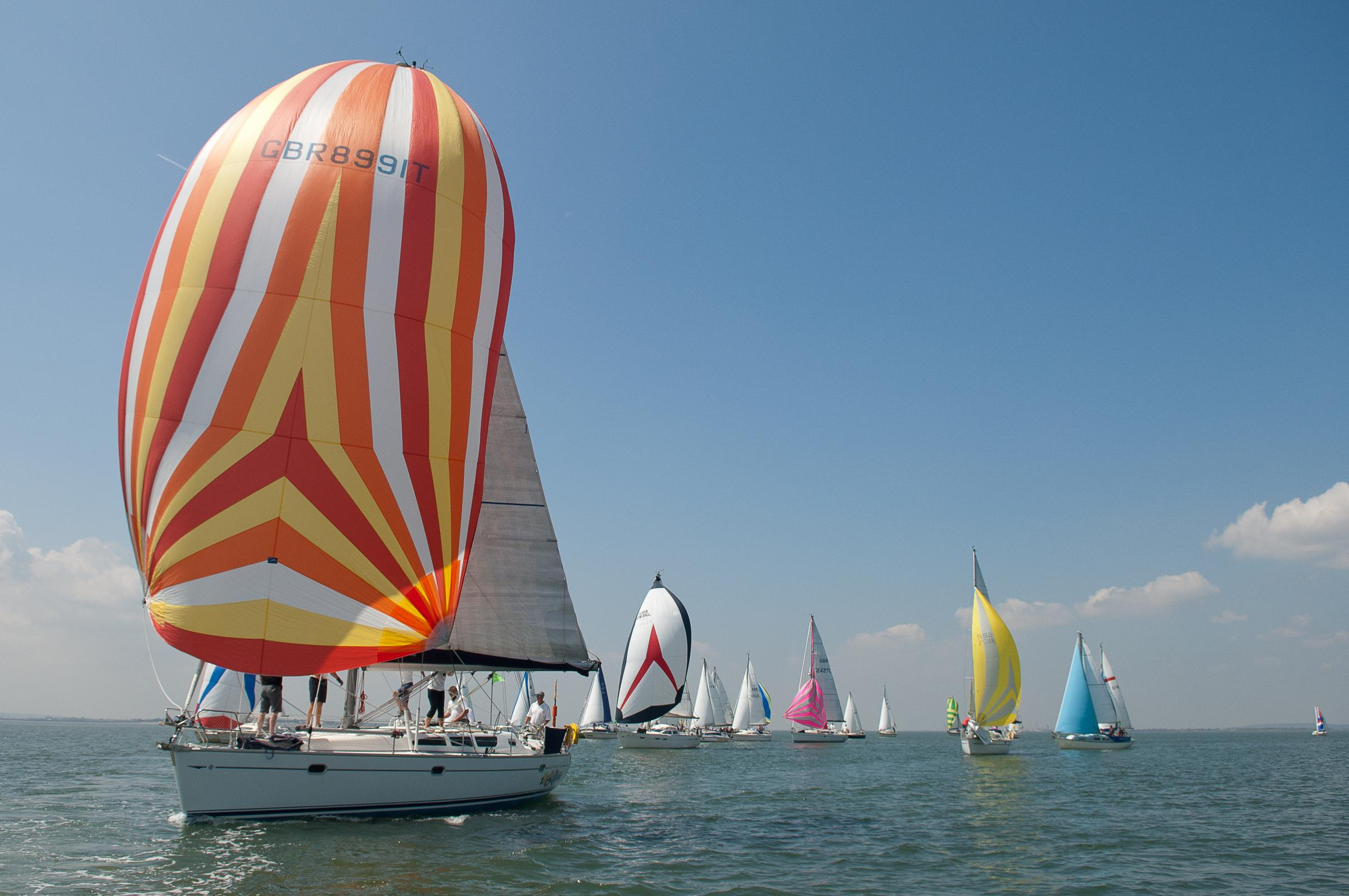 Sailing spectacular - 84 boats compete in traditional Southend sailing race