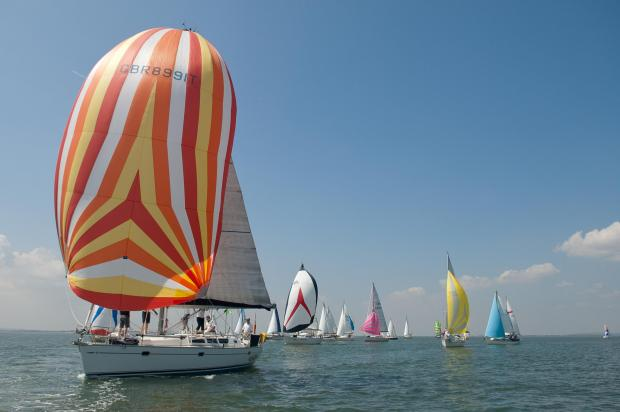 Echo: We are sailing – boats taking part in the Nore Race, from Southend Pier to the Kent coast and back