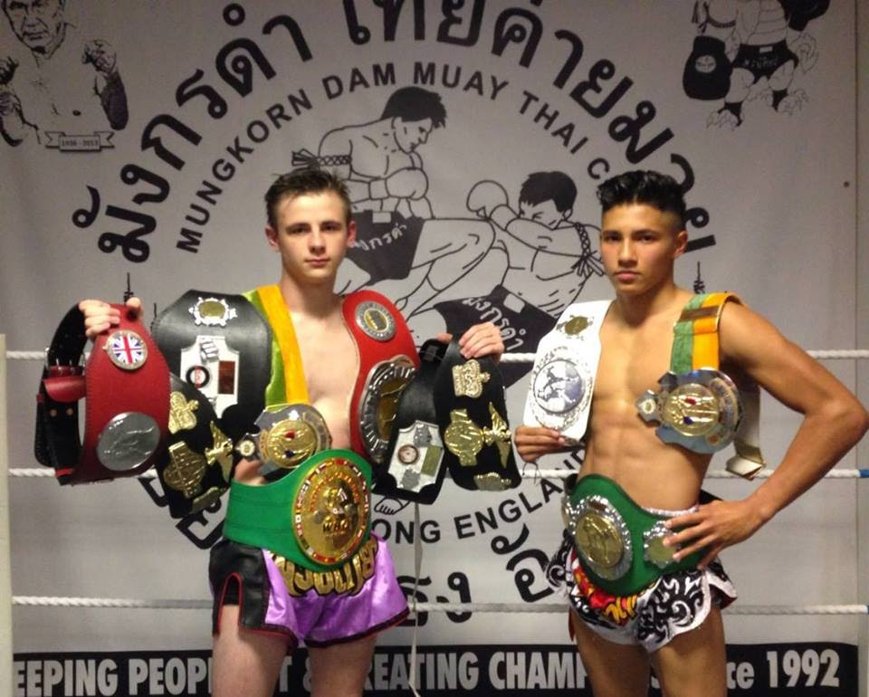 Fighting stars – Reece Thomson, left, and Natty Dodds