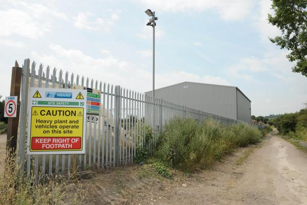 Expansion – the site of the recycling plant