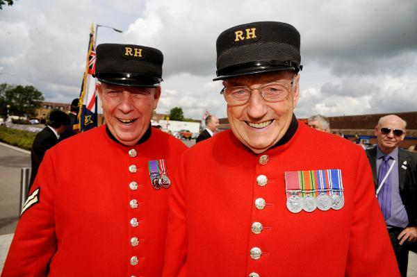 Chelsea Pensioners Dave Thomson at Canvey's Armed Forces Day Parade