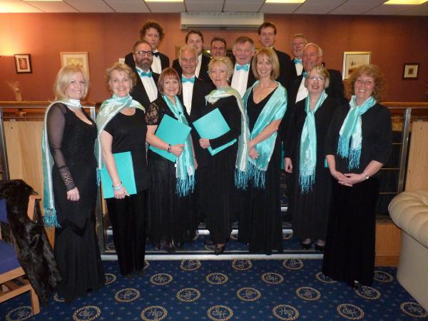 Singing for charity – the choir members are all experienced singers