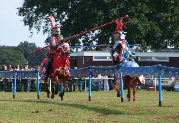 Take that - jousting is always a big draw at the Southend Robin Hood Country Sho