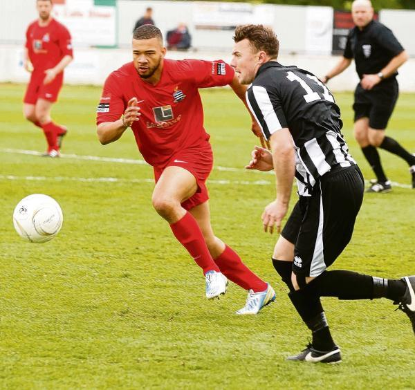 Signed up - Chris Bryan (right) has joined Grays Athletic from Heybridge Swifts