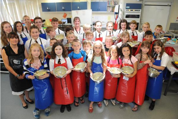 Chernobyl kids share cookery class with pupils