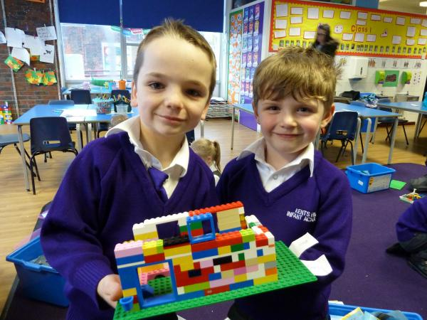 Building futures? Albie Payne and Teddy Curd at the school's lego club