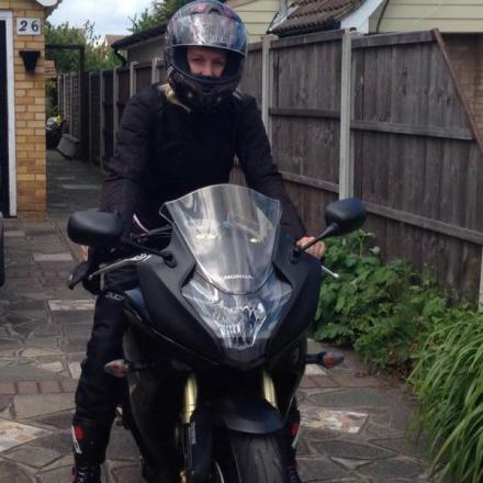 Injured biker girl plans charity race from hospital bed