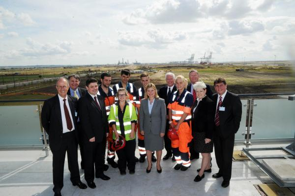 Secretary of State Justine Greening with dignitaries