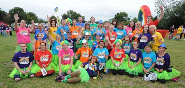 Colourful competitors – members of the Asda Rayleigh team who take part in the event