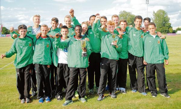 Southend High School for Boys celebrate their win