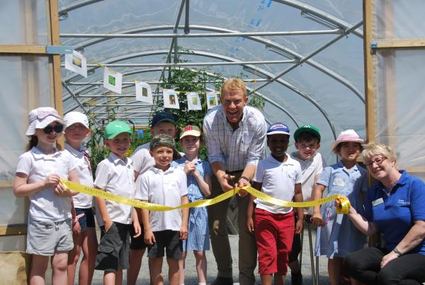 Countryfile's Adam Henson officially opens the new polytunnel at Barleylands