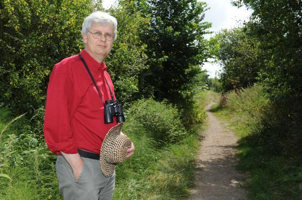 Angry – David Hurrell by the path he says will become a main thoroughfare for cyclists