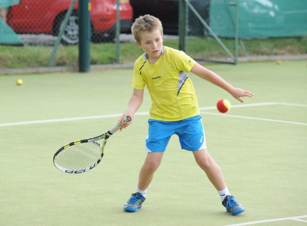 Keeping his crown - Max Cole retained his boys' singles title