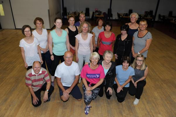 Dance class – instructor Lorraine Wood with pupils