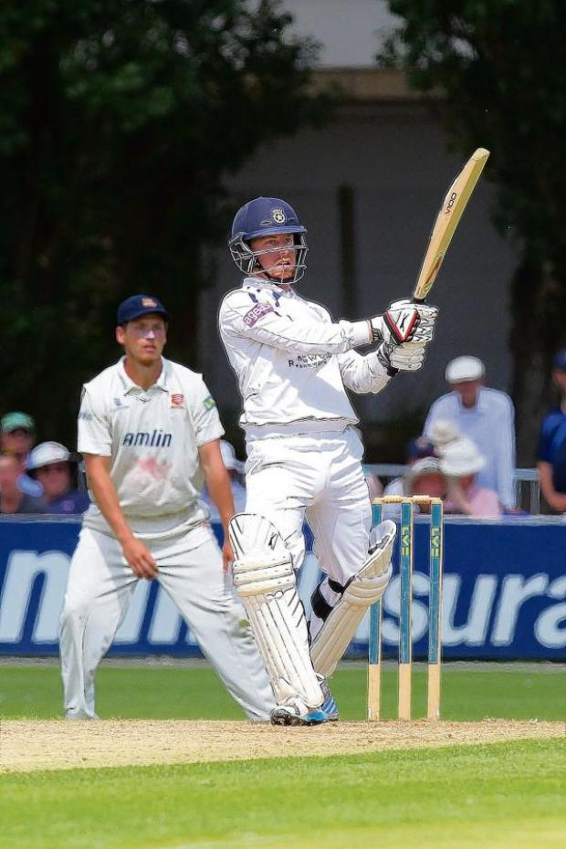 Echo: Former Essex wicketkeeper Adam Wheater plundered 107 runs against his old county before being trapped lbw by Sajid Mahmood. Picture: GAVIN ELLIS/TGS PHOTO