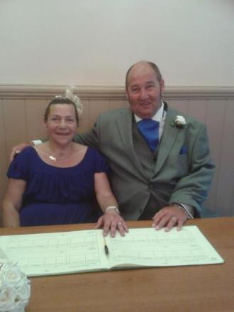 Happy couple – Hayley and Andy Edwards