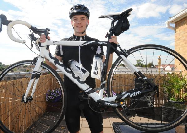 Cyclist with a cause – David Hodby is taking on the challenge in aid of charity Debra