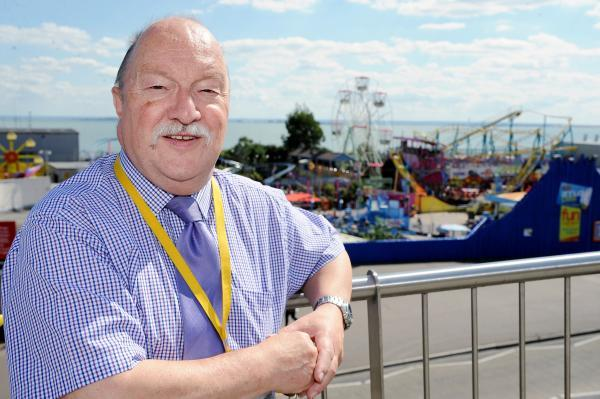 Echo: Giving Southend a boost – councillor Graham Longley at Adventure Island