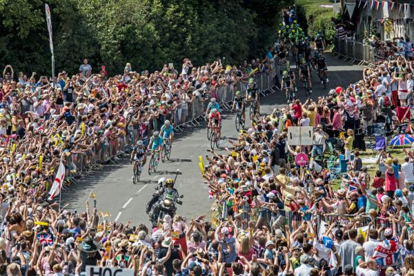 Thrilling sight - the Tour de France raced through Essex earlier this month