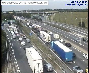 Echo: Traffic at Junction 2 of the M25