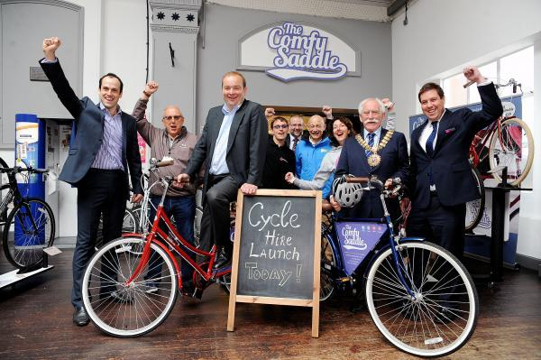 Launch – James Duddridge, MP, saddles up